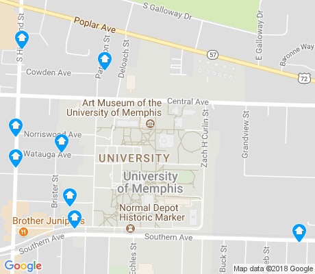 map of University of Memphis apartments for rent