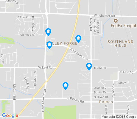 map of Valey Forge Civic League apartments for rent