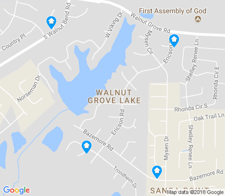 map of Walnut Grove Lake apartments for rent