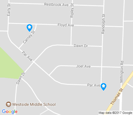 map of Westside apartments for rent