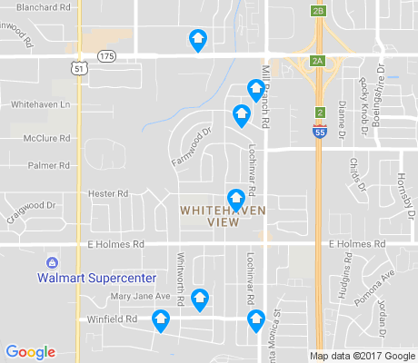 map of Whitehaven View apartments for rent