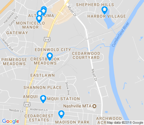 map of Cedarwood Courtyard apartments for rent