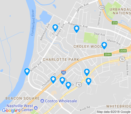 map of Charlotte Park apartments for rent