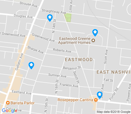 map of Eastwood apartments for rent