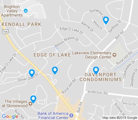 map of Edge of Lake apartments for rent