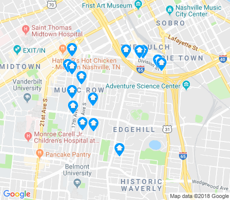 map of Edgehill apartments for rent