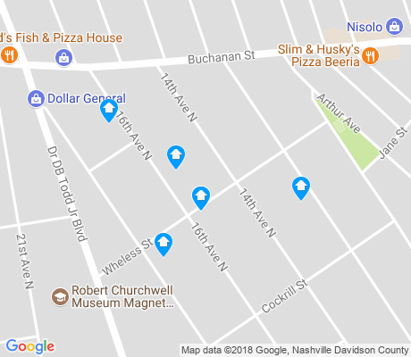 map of Elizabeth Park apartments for rent