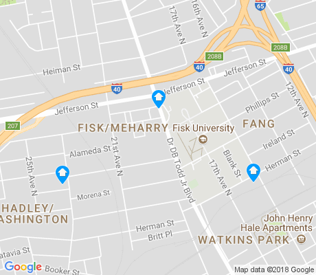 map of Fisk-Meharry apartments for rent