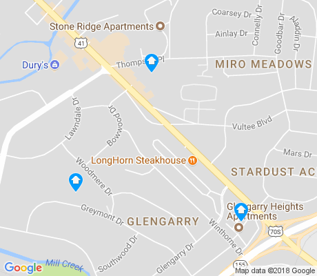 map of Glengarry apartments for rent