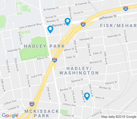 map of Hadley-Washington apartments for rent