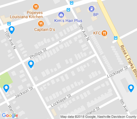 map of Hope Gardens apartments for rent