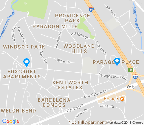 map of Kenilworth Estates apartments for rent