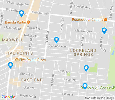 map of Lockeland Springs apartments for rent