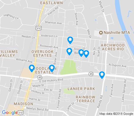 map of Madison Park Condominiums apartments for rent