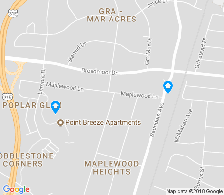map of Maplewood Heights apartments for rent