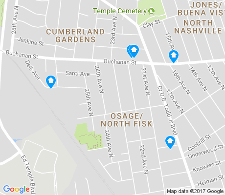 map of Osage-North Fisk apartments for rent