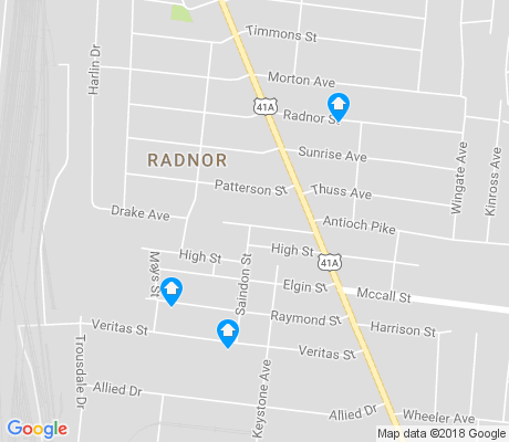map of Radnor apartments for rent
