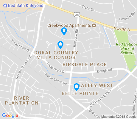 map of River Plantation apartments for rent