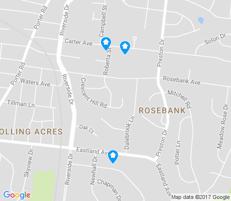 map of Rosebank apartments for rent