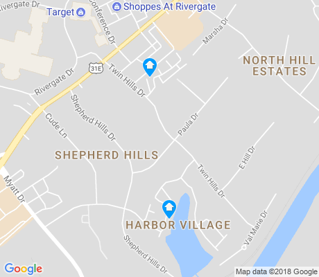 map of Shepherd Hills apartments for rent