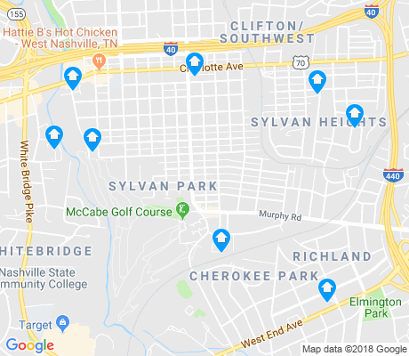 map of Sylvan Park apartments for rent