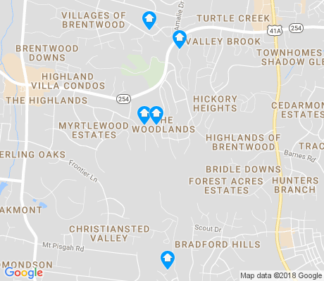 map of The Woodlands apartments for rent