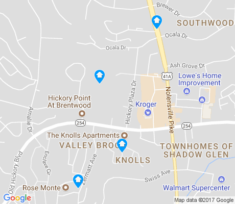 map of Townhomes of Shadow Glen apartments for rent