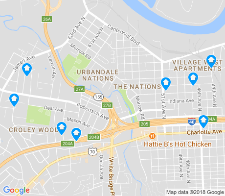 map of Urbandale Nations apartments for rent