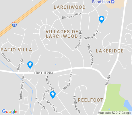 map of Villages of Larchwood apartments for rent