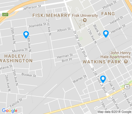 map of Watkins Park apartments for rent