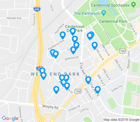 map of West End Park apartments for rent