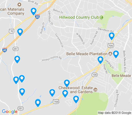 map of West Meade apartments for rent