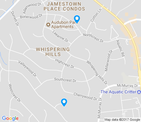 map of Whispering Hills apartments for rent