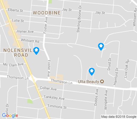 map of Woodbine apartments for rent