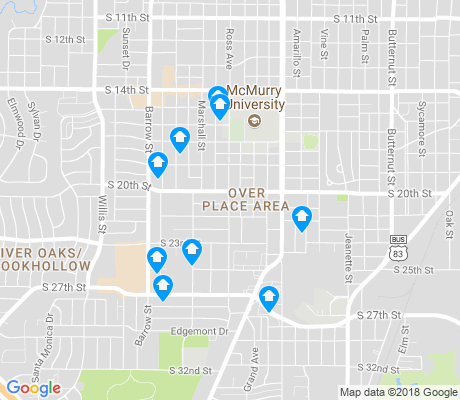 map of Over Place Area apartments for rent