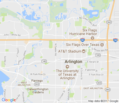 map of Forest Park Arlington apartments for rent