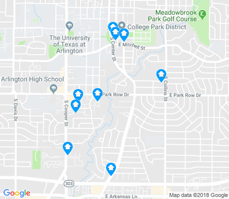 map of Heart of Arlington apartments for rent
