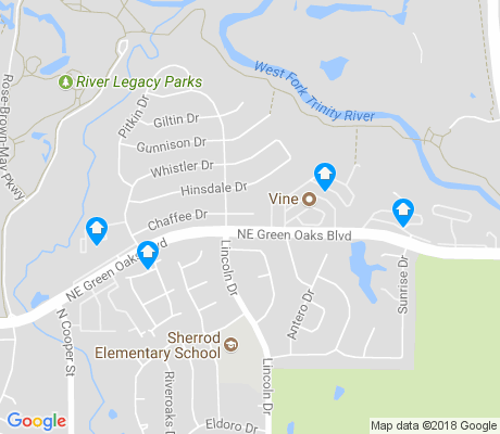 map of Parkway North apartments for rent