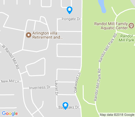 map of Randol Mill apartments for rent