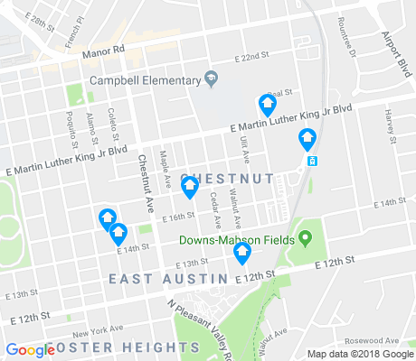 map of Chestnut apartments for rent
