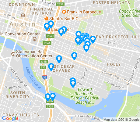 map of East Cesar Chavez apartments for rent