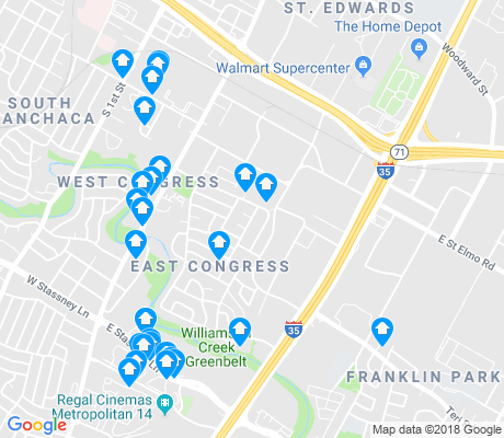 map of East Congress apartments for rent