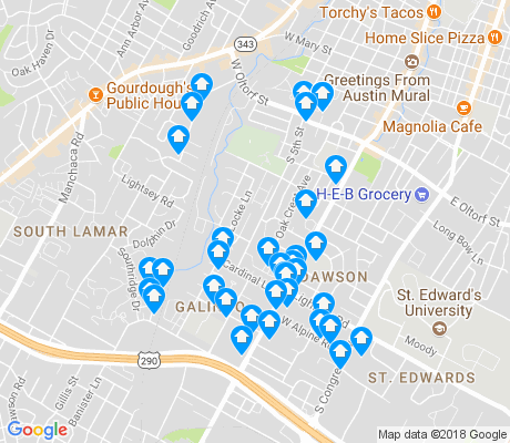 map of Galindo apartments for rent