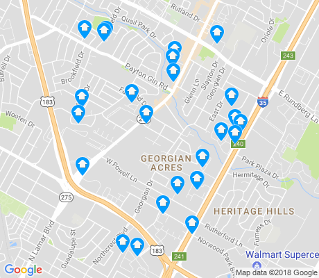 map of Georgian Acres apartments for rent