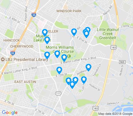map of MLK apartments for rent