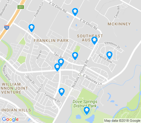 map of McKinney apartments for rent