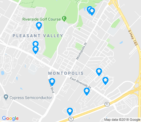 map of Montropolis apartments for rent
