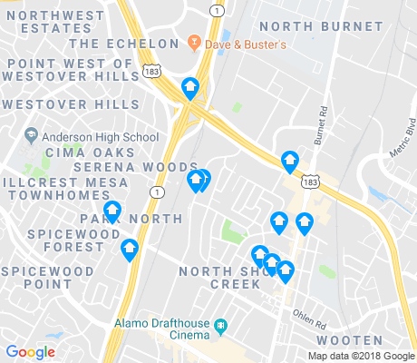 map of North Shoal Creek apartments for rent