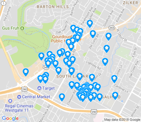 map of South Lamar apartments for rent