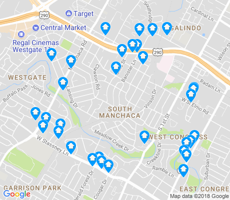map of South Manchaca apartments for rent